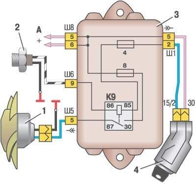 принципиальная схема электрооборудования автомобиля